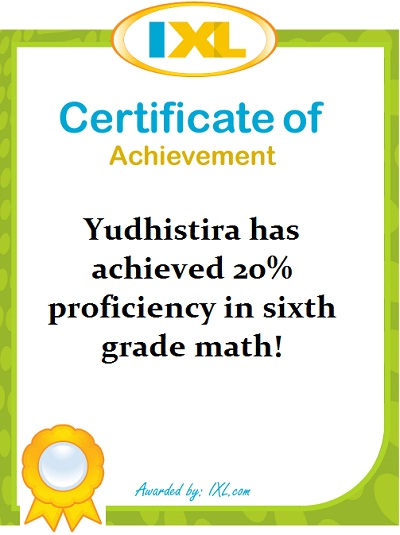Perkembangan Math Yudhis