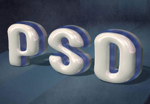 3D PSD text