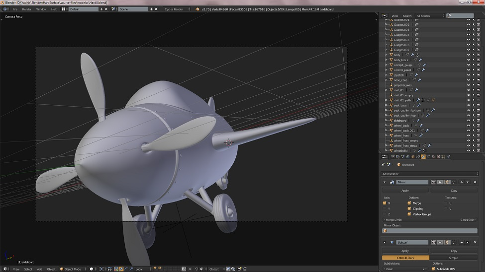 Hardsurface Modelling – Airplane